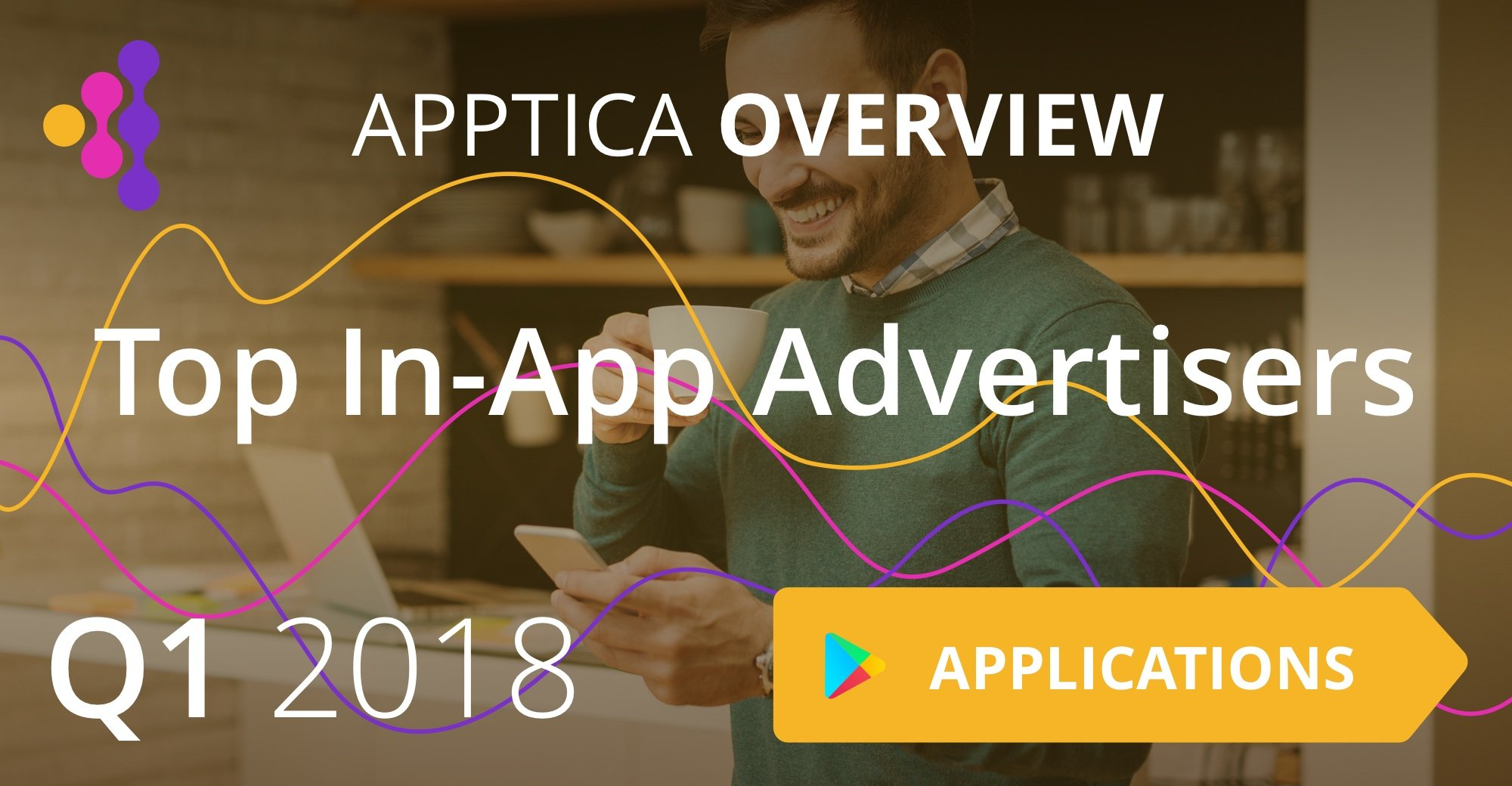 Top In-App Advertisers of Q1 2018, Android, Application Category. Apptica Overview.