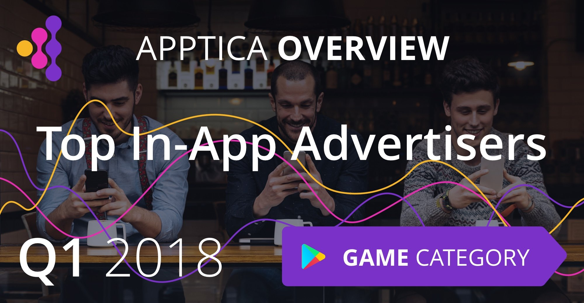 Top In-App Advertisers of Q1 2018, Android, Game Category. Apptica Overview.