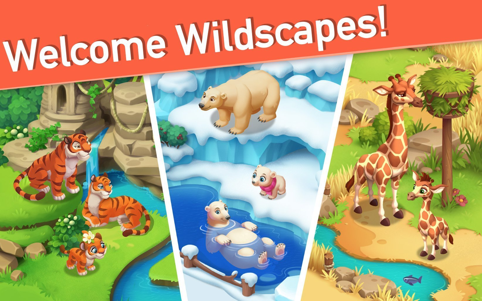 Playrix tests ad for its new game Wildscapes