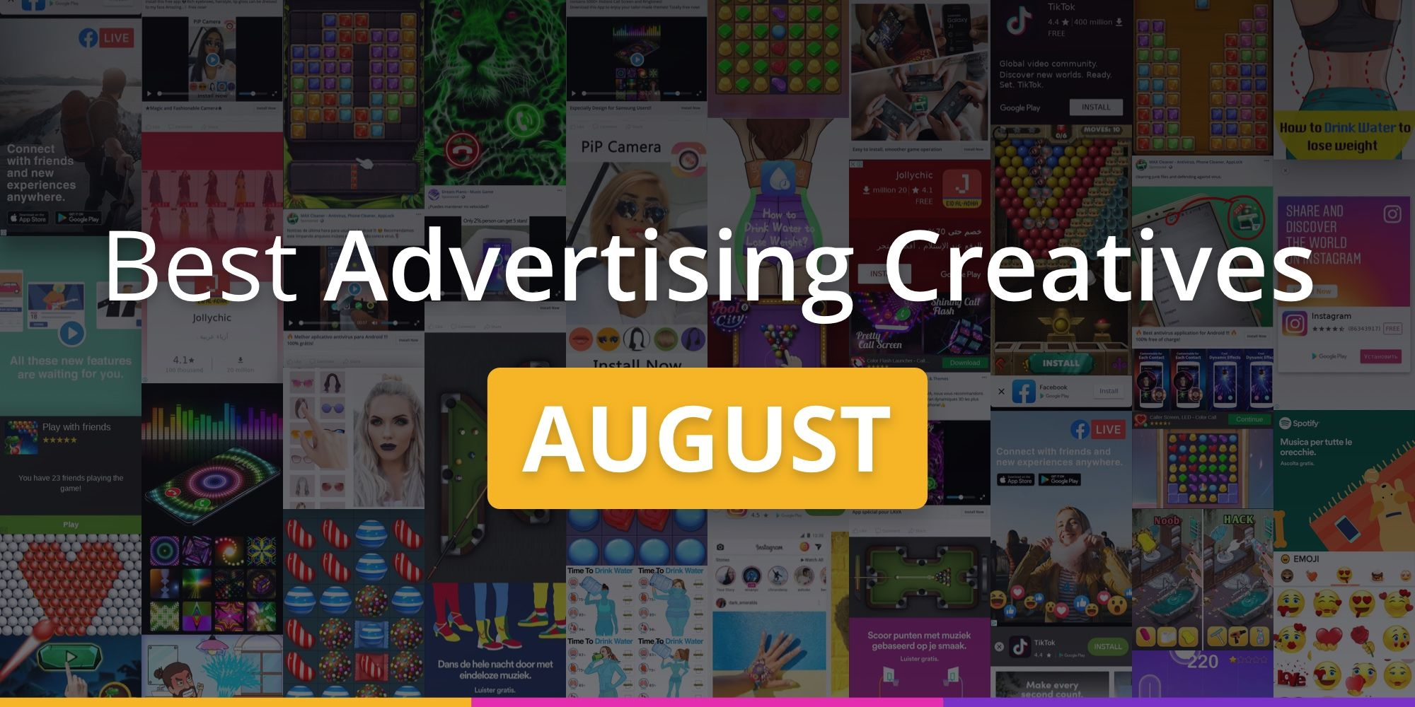 Best advertising creatives of August
