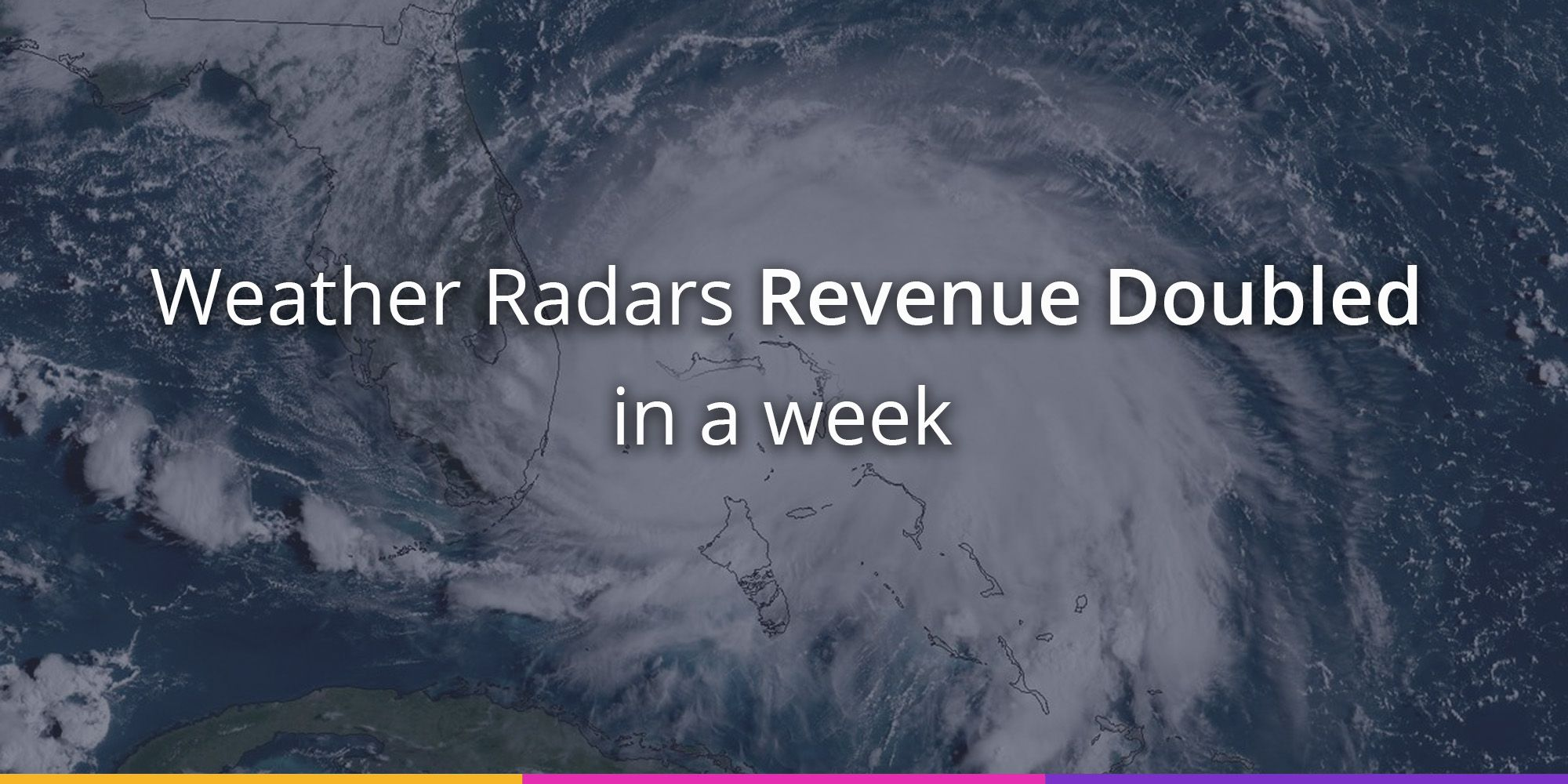 Weather Radars Revenue Doubled in the US Along of Hurricane Dorian