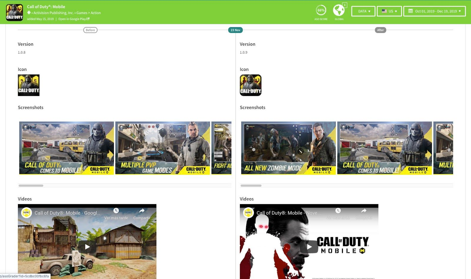 Call of Duty®: Mobile for Google Play Timeline updates feature - TheTool