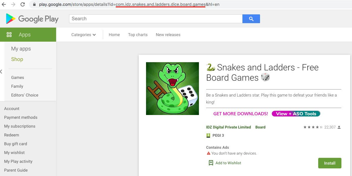 App 🐍 Snakes and Ladders - Free Board Games 🎲 and its ID com.idz.snakes.and.ladders.dice.board.games on Google Play Store