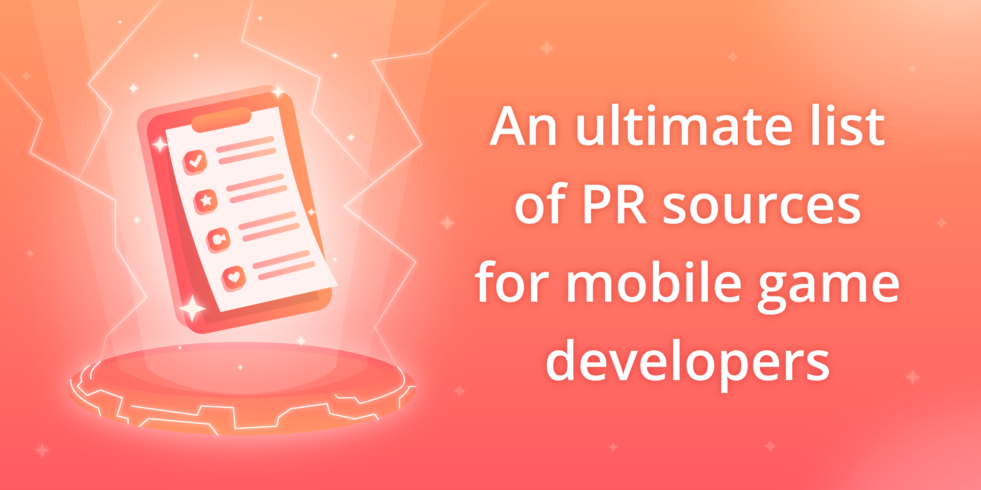 An ultimate list of the PR sources for mobile game developers